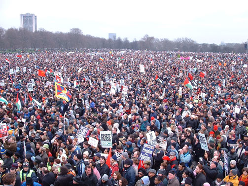 Peace Rally before Iraq War, London (55 R5s for 1.5 million people)