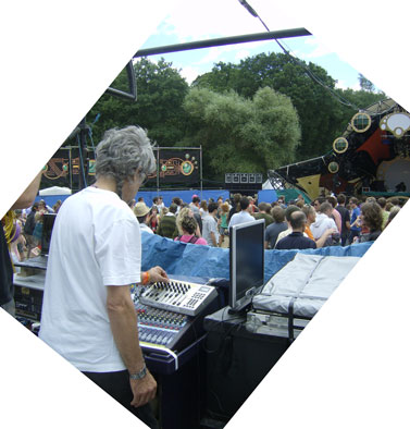 Tony Mixing the ambisonics at Glade 2008