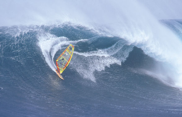 Windsurfer in Maui (picture used in an early F1 advert)
