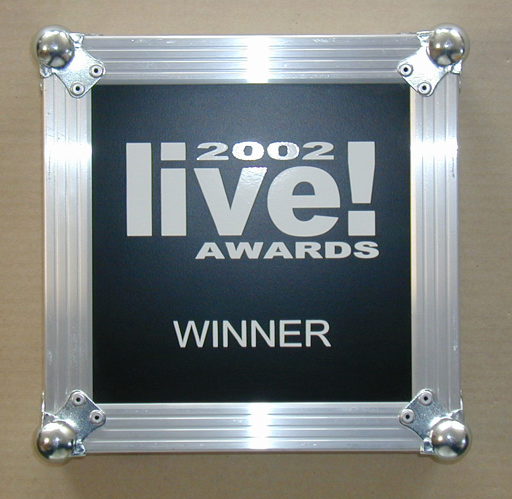 Funktion One winners of Live Award 2002