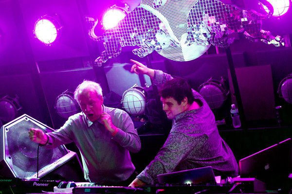 Legend producer Giorgio-Moroder playing at New York super club Output on DJ monitor PSM 318.